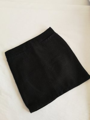 Tweed rok zwart-zilver