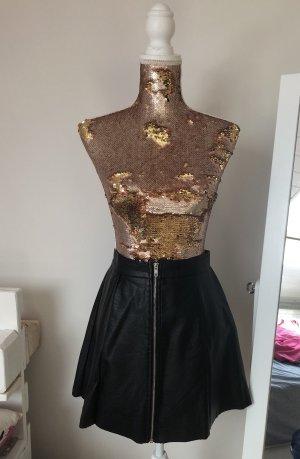 Tally Weijl Falda de cuero negro