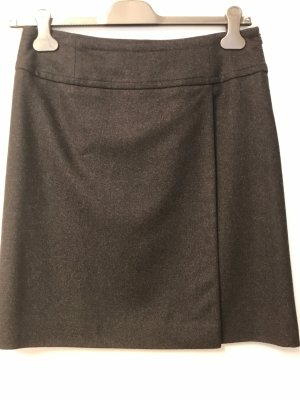 Windsor Wraparound Skirt dark grey mixture fibre