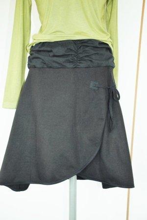 Wraparound Skirt black cotton