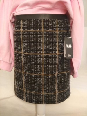 s.Oliver Wool Skirt multicolored cotton