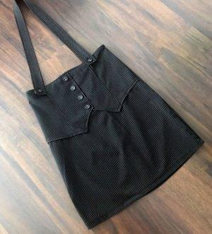 Overgooier rok antraciet-zwart
