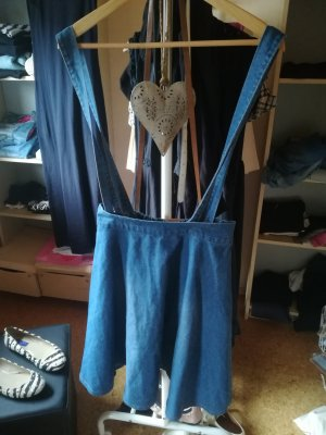 Rock Kleid Trägerkleid Jeans