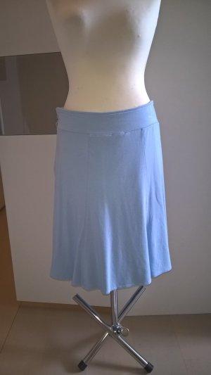 Charles Vögele Flared Skirt azure cotton