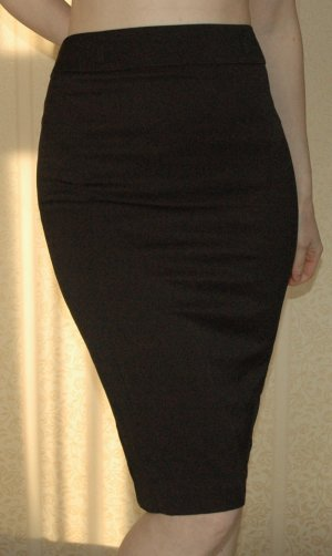 Rock knielang Pencilskirt schwarz Warehouse Gr. UK 8 36 S neu business gothic