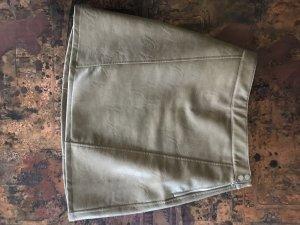 Zara Flared Skirt camel imitation leather
