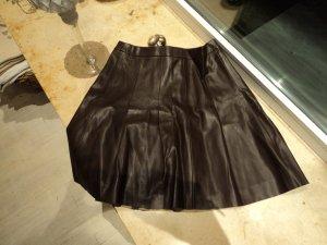 Orsay Falda de cuero de imitación marrón oscuro