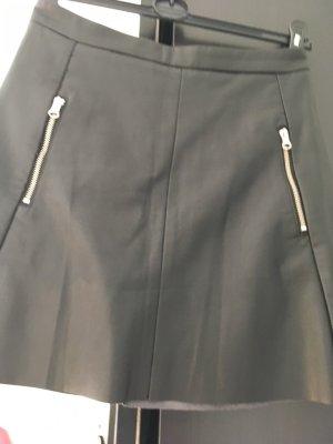 H&M Minifalda negro Poliéster