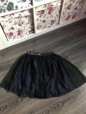 H&M Tulle Skirt dark blue-blue