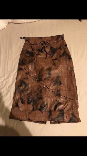 Falda de cuero multicolor