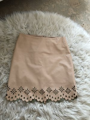 Orsay Leather Skirt nude