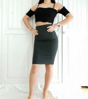 Rock Mango XS Grau Bleistiftrock Businessrock skirt Bleistift Business Bürorock Kleid