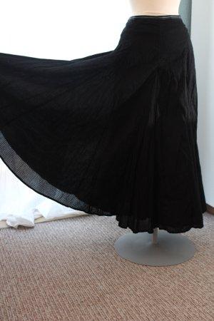 Rock Maxi Maxirock Midirock schwarz weit schwingend Betty Jackson für DebenhamsGr. 42 M L UK 14 hippie