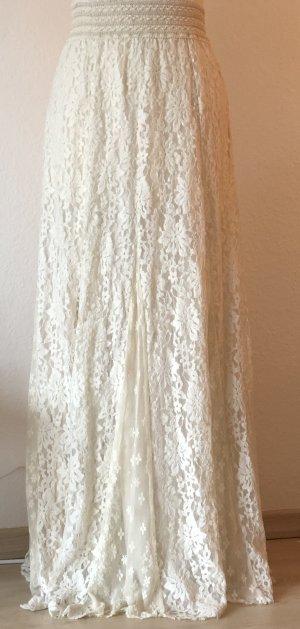 Kimchi Blue Falda de talle alto blanco puro-crema