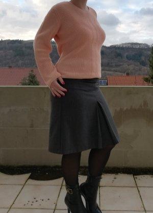 s.Oliver Jupe asymétrique gris-gris foncé coton