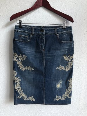 RED Valentino Gonna di jeans multicolore Cotone