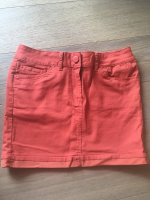 Rock Minirock Jeansrock orange Sommer stretchig Gr. 36