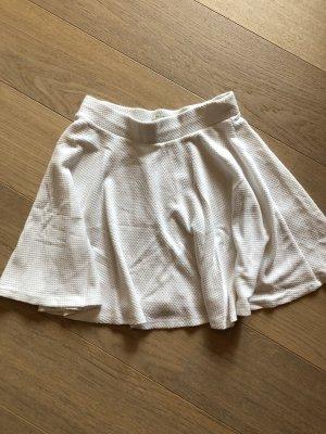 Bershka Skater Skirt white
