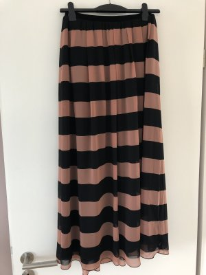 Madison Scotch Maxi Skirt black-apricot