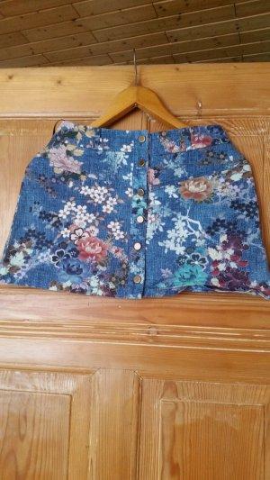 Asymmetry Skirt blue