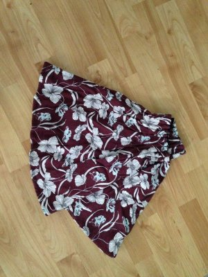 Pull & Bear Balloon Skirt cream-bordeaux
