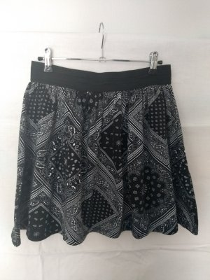Amisu Minigonna bianco-nero Cotone