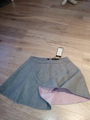 Amisu Plaid Skirt light grey
