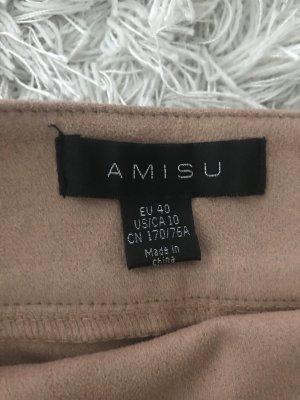 Amisu Franjerok stoffig roze