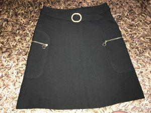 Promod Falda asimétrica negro