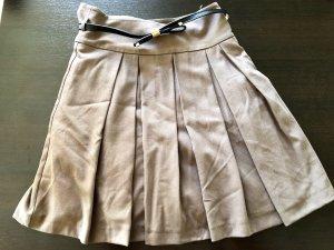 Ashley Brooke Plaid Skirt taupe