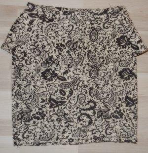 Bershka Jupe taille haute noir-blanc