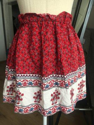 Forever 21 Mini-jupe blanc-rouge framboise