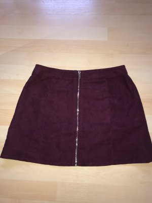H&M High Waist Skirt blackberry-red-bordeaux