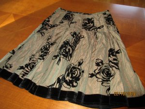 Minx by Eva Lutz Taffeta Skirt grey brown-black