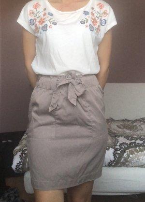 C&A Falda asimétrica marrón grisáceo-gris