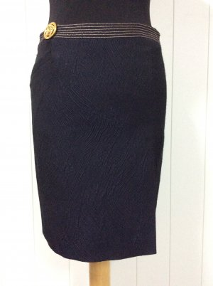 Versace Jeans Pencil Skirt black-gold-colored acetate
