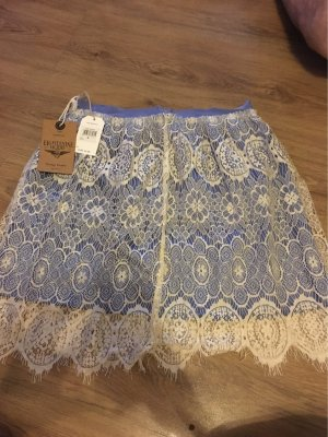 Lace Skirt white-steel blue