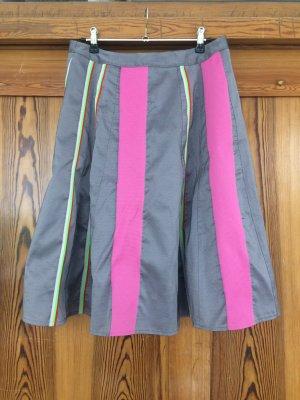 Falda acampanada gris-rosa Fibra sintética