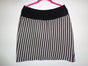 One Two Luxzuz Jupe tricotée noir-blanc fibre textile