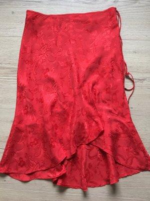 Mango Flounce Skirt red