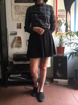 Monki Plaid Skirt black