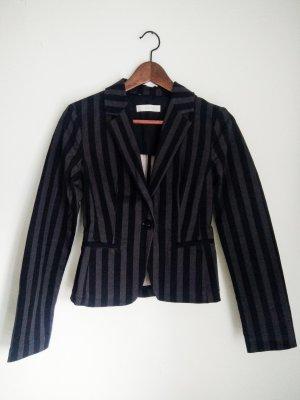 Zara Blazer corto negro-gris antracita Algodón