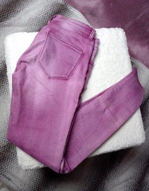 Pantalone elasticizzato rosa-viola