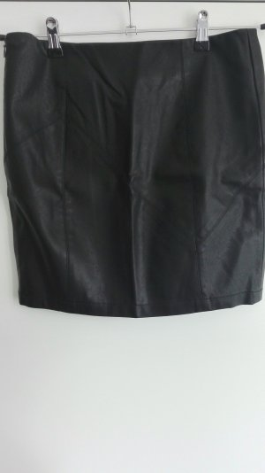 Noisy May Faux Leather Skirt black imitation leather