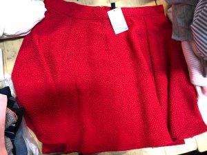 H&M Jupe skater rouge
