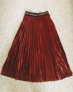Pleated Skirt carmine-dark red synthetic
