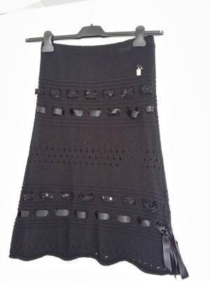 Nicowa Wollen rok zwart Gemengd weefsel