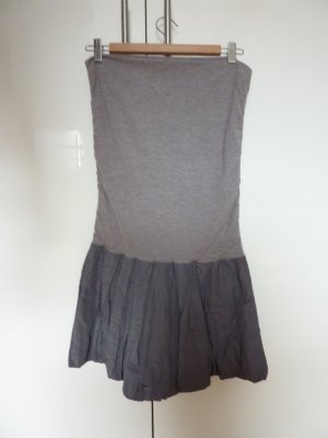 Hallhuber Balloon Dress silver-colored-light grey cotton