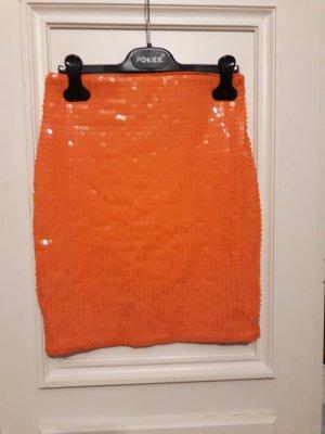 Rock orange Pailletten