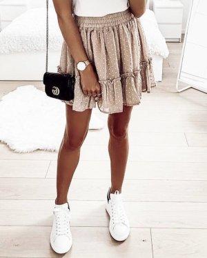 Mini-jupe multicolore tissu mixte